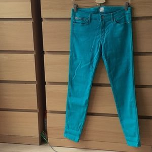 Guess by Marciano Zip Pocket Bright Blue Skinny Jeans Size 29